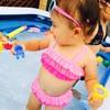 ムチムチ感がたまらない!赤ちゃんのかわいい水着ショット♡