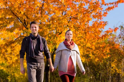 妊婦さんと散歩
