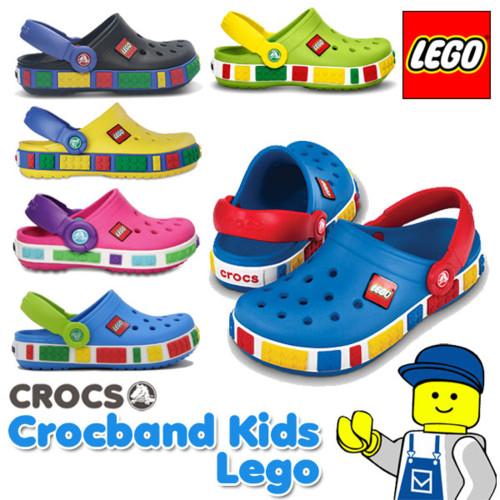 【5,400円以上で使える5%OFFクーポン配布中】【送料無料】クロックス(CROCS) クロックバンド キッズ レゴ(Crocband Kids Lego) サンダル【ベビー & キッズ 子供用】【楽ギフ_包装選択】【あす楽対応】
