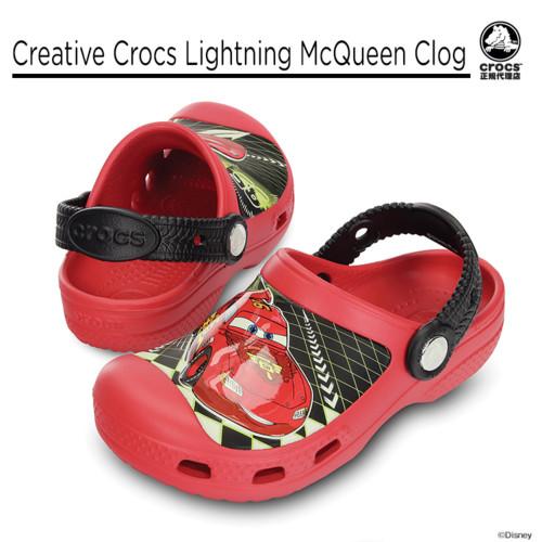 【crocs】【クロックス】【正規代理店】creative crocs lightning mcqueen clog クリエイティブ クロックス ライトニング マックイーン クロッグ 正規品 キッズ カジュアル サンダル かわいい カーズ ボーイズ クラシック ケイマン フラットシューズ 春夏モデル10P04Jul15