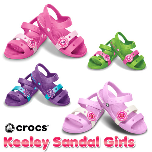 【5,400円以上で使える5%OFFクーポン配布中】【送料無料】クロックス(CROCS) キーリーサンダルガールズ(Keeley Sandal Girls)【ベビー & キッズ 子供用】【楽ギフ_包装選択】【あす楽対応】