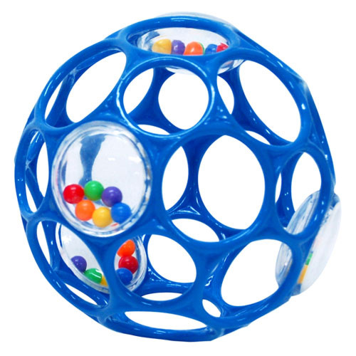 BorneLund(ボーネルンド ).オーボール(Rhino Toys)社 オーボールラトル・ブルー 知育玩具