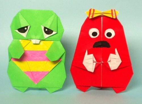 すべての折り紙 折り紙 折り方 キャラクター ディズニー : ... 折り紙で!キャラクターの折り