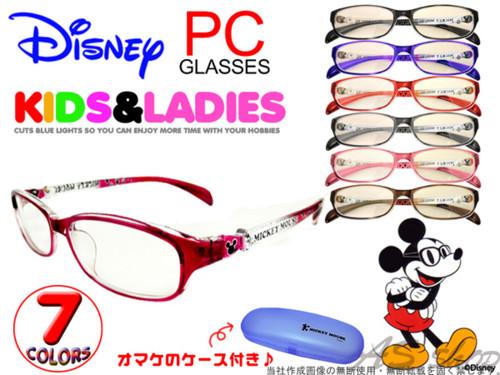 【Disney】ミッキー PCメガネ ミッキーの専用 ケース付き