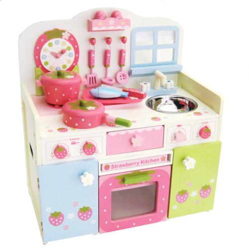 マザーガーデン(Mother Garden)おままごとキッチン野いちご チクタク時計付きセレクトキッチン<パステルカラー>