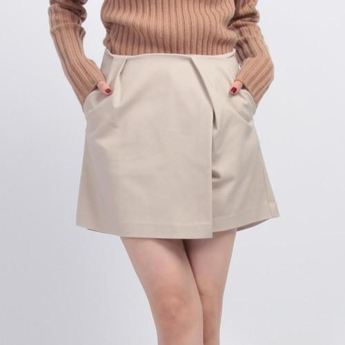 Bon mercerie/ボン メルスリーSupreme LaLa ラップスカート風タックショートパンツ