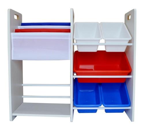 MAMENCHI  フランスカラーおもちゃ箱&本棚