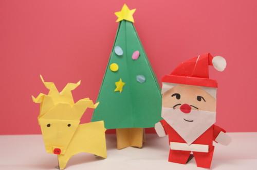 折り紙で作るサンタクロースの ... : 折り紙クリスマスツリー簡単 : 折り紙