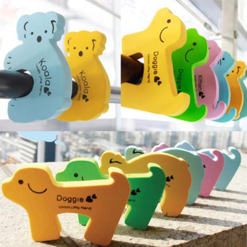 高弾力ドアクッション 動物3個セット 犬 猫 コアラ ドアストッパー 定型外送料無料