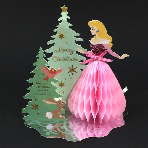 クリスマスカード 洋風 ディズニーミニハニカムプリンセスカード オーロラ XC-66556 APJ 02P20Nov15