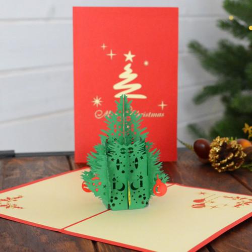 ポップアップクリスマスカード『クリスマスツリー』