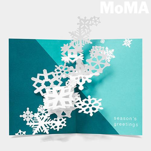ポップアップクリスマスカード 雪の結晶