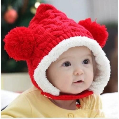 ポンポン モコモコ 帽子