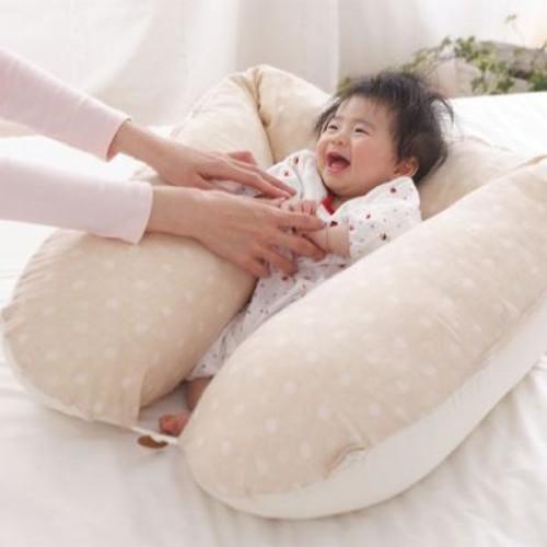 【抱き枕・授乳クッション】ECOレシピ♪ オーガニックコットン・ダブルガーゼ
