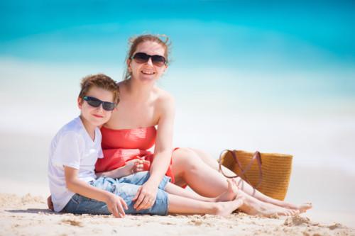 男の子とママ
