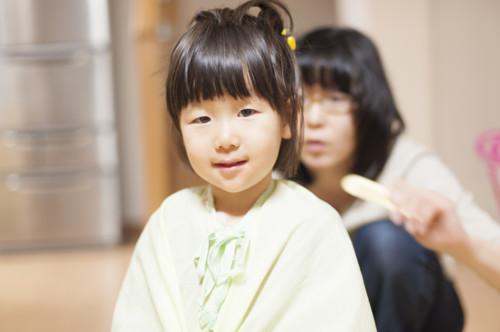 子供 散髪