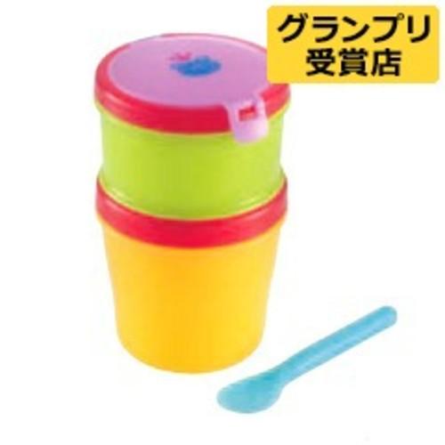 赤ちゃんのクールお弁当箱 2段(1セット)【おでかけランチくん】