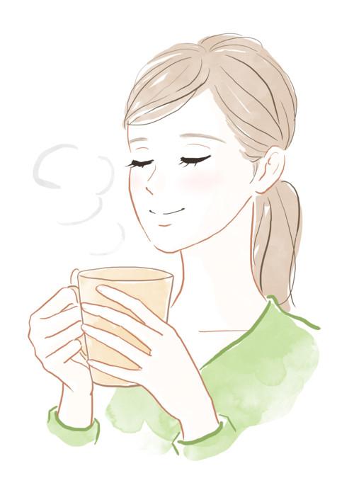 温かい 女性 飲み物