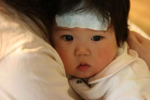熱がある赤ちゃん