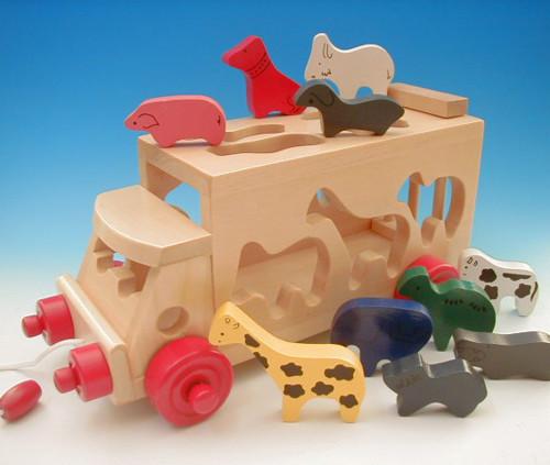 木のおもちゃ 「サファリバス」 エドインター社