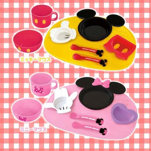 ミッキーマウス・ミニーマウス ベビー食器セット
