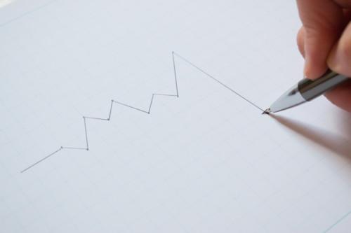 折れ線グラフ 下がる