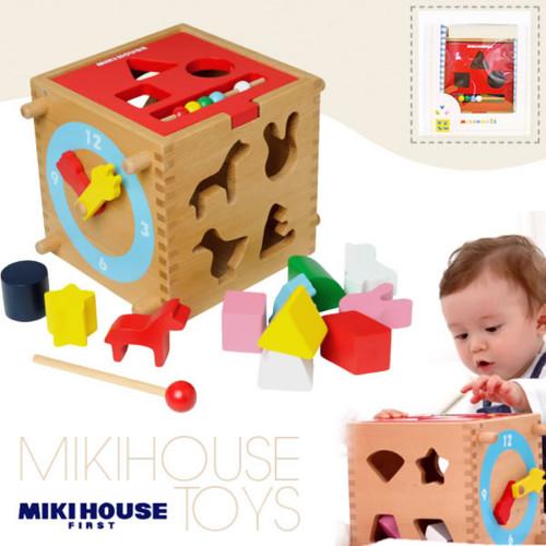 ミキハウス(mikihouse)多機能おもちゃウッドパズル
