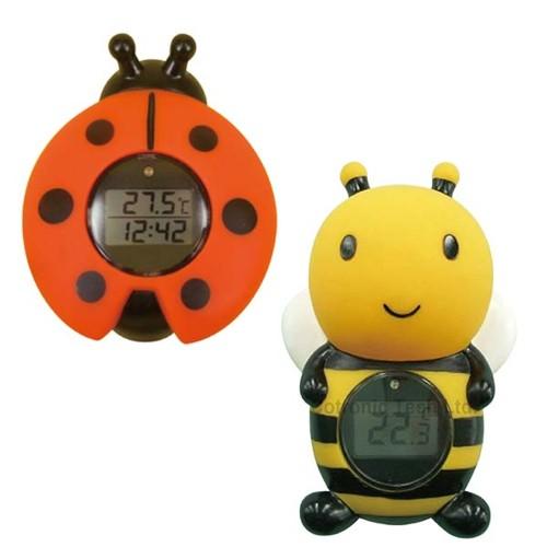 ルーム&バスサーモメーター時計 温度計 湯温計