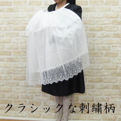 お宮参り セレモニー用 ベビーお帽子・ケープ2点セット
