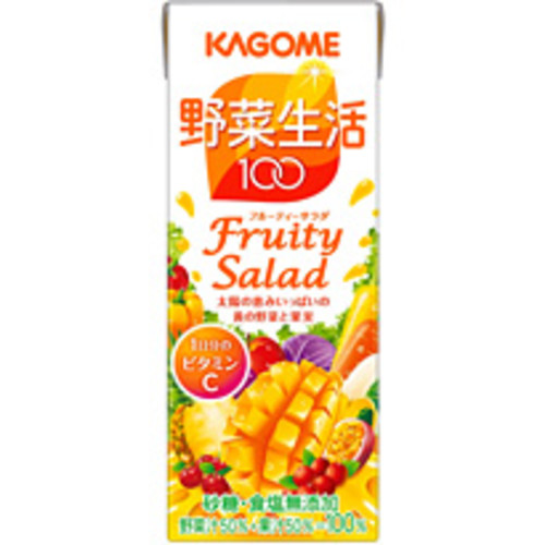 カゴメ 野菜生活100 フルーティサラダ 200ml 24本入り