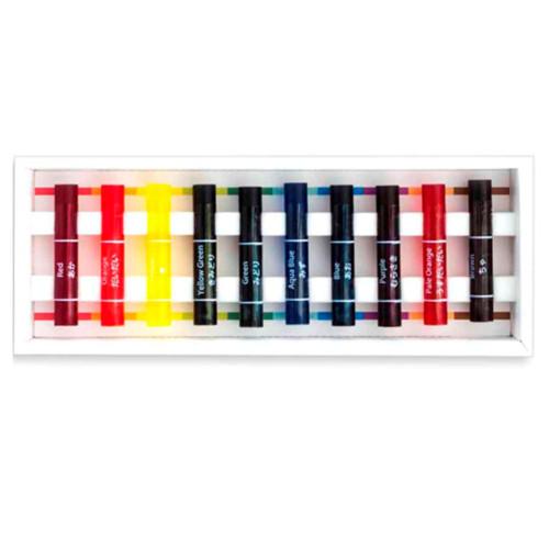 【ネコポス便対応可能商品】 透明クレヨン 10色入り コクヨ KE-AC18