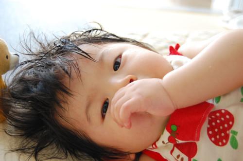 赤ちゃん 汗