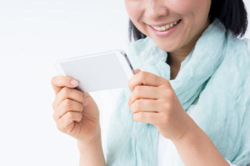 女性 携帯