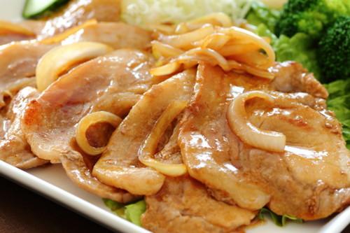 豚ネギ生姜焼き