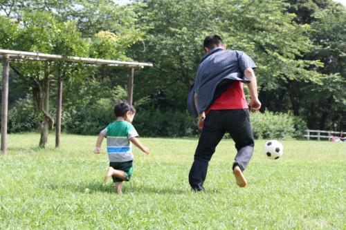 サッカー 親子