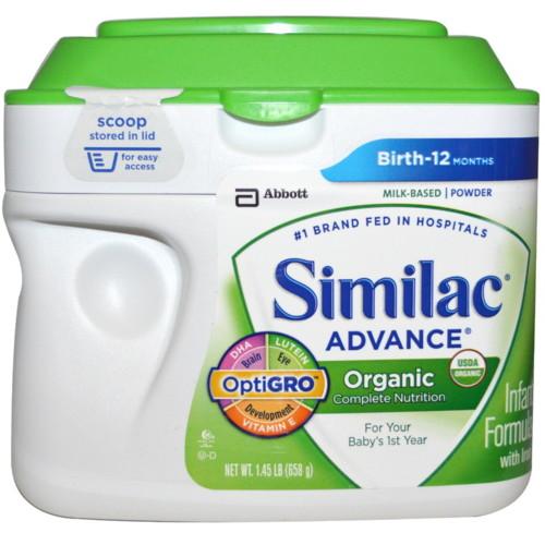 SIMILAC アドバンスオーガニック乳幼児用フォーミュラ 鉄分入り 0~12ヶ月用