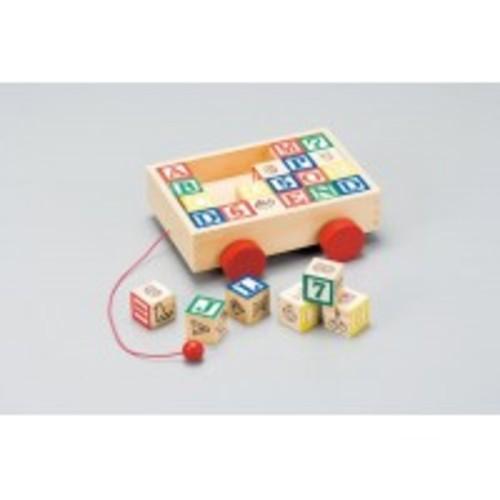 木のおもちゃ 森の積木 ブロック車ケース