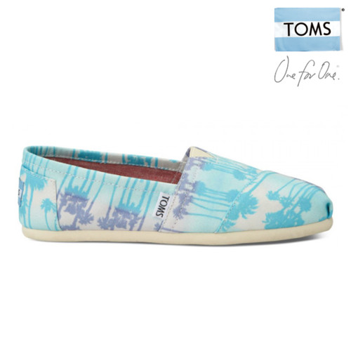 TOMS Women's Classics (Blue Palm Trees Vegan)