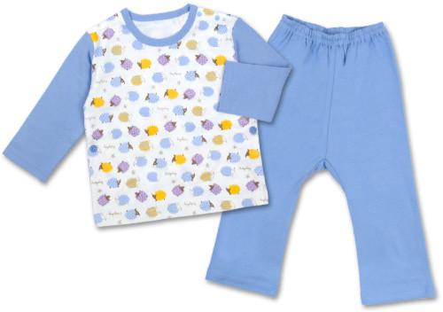ハリネズミ柄T型長そでパジャマ